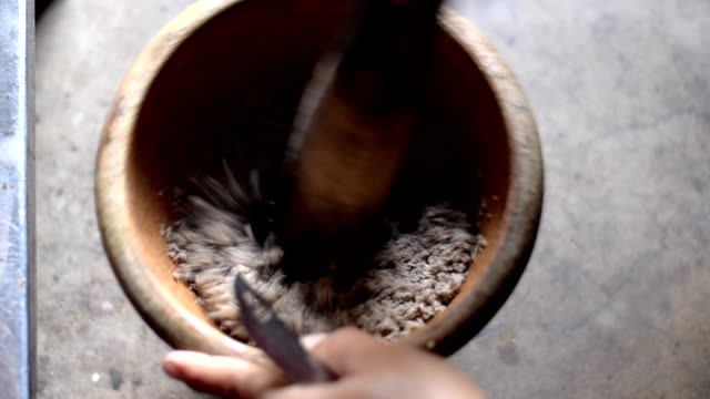 mortar and pestle - mortar and pestle stock videos and b-roll footage