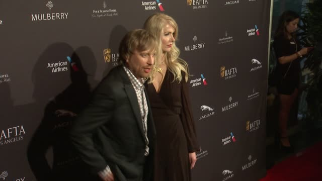 morten tyldum and janne tyldum at the 2015 bafta los angeles tea party at the four seasons hotel on january 10, 2015 in beverly hills, california. - janne tyldum stock videos & royalty-free footage