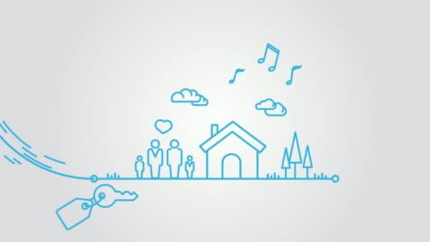 vidéos et rushes de hypothèque animation art en ligne - prêt
