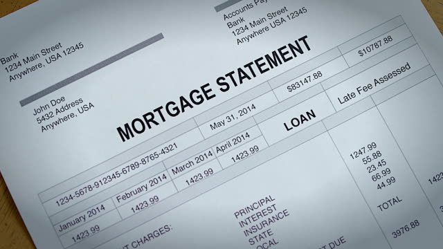 Mortgage payment statement past due