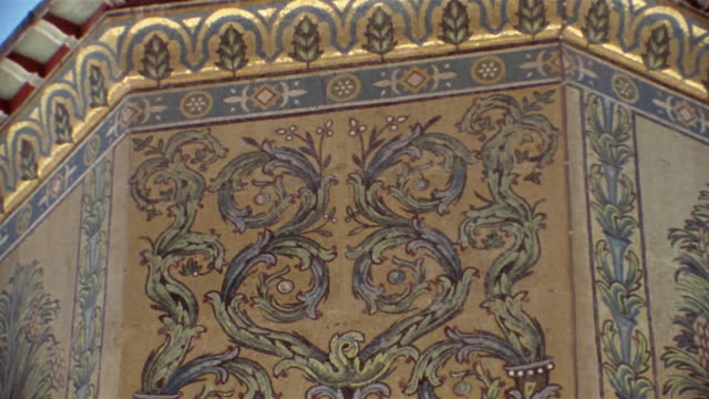 cu, td, mosaics on the treasury in grand mosque of damascus, damascus, syria - grand mosque stock videos and b-roll footage