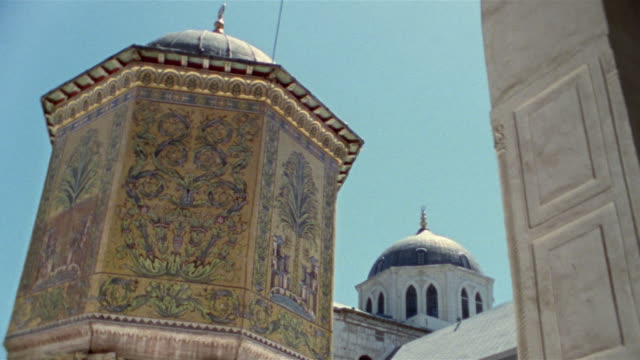 ms, mosaics on the treasury in grand mosque of damascus, damascus, syria - grand mosque stock videos and b-roll footage