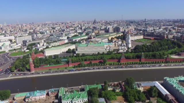moscow aerial view - panoramic stock videos & royalty-free footage