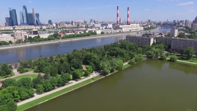 moscow aerial view - russia stock videos & royalty-free footage
