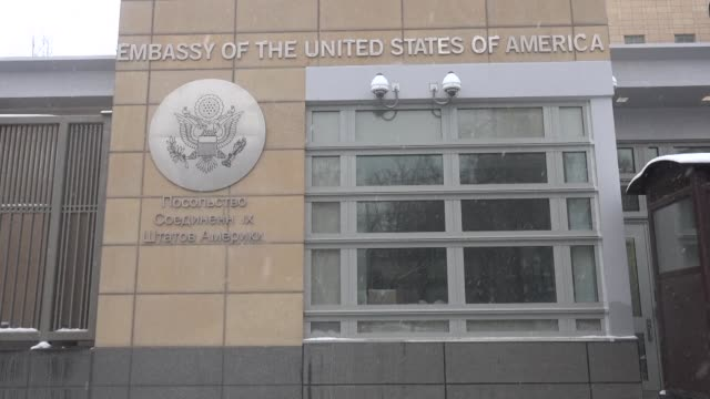 moscow charged washington had put colossal pressure on allies to expel scores of russian diplomats and vowed to retaliate - embassy stock videos and b-roll footage