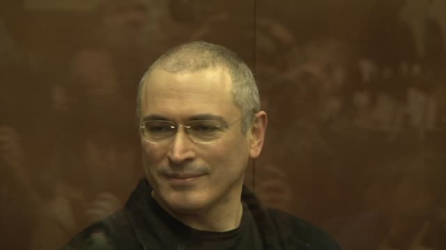 a moscow court on monday found jailed tycoon mikhail khodorkovsky guilty in his second fraud trial a judgement seen as a pivotal moment in russia's... - legal trial stock videos & royalty-free footage