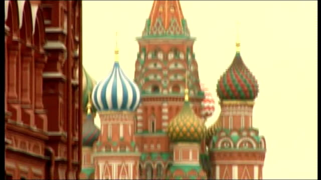 general views of red square russia moscow red square ext general view of saint basil's cathedral red square state historical museum statue of marshal... - basil stock videos & royalty-free footage