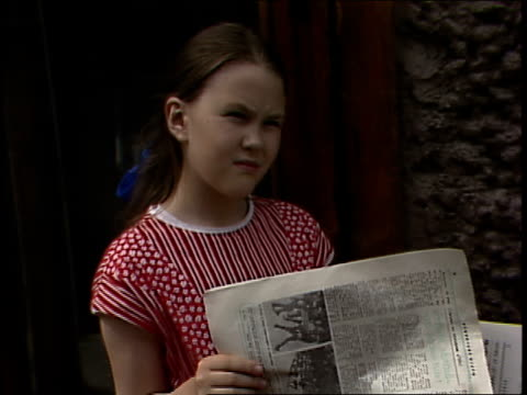 moscow girl reading newspaper - only girls stock videos and b-roll footage