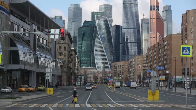moscow international business center , also known as moscow city, in moscow, russia, on tuesday, april 28, 2020. russia has reported 93,558 confirmed... - moscow russia stock videos & royalty-free footage