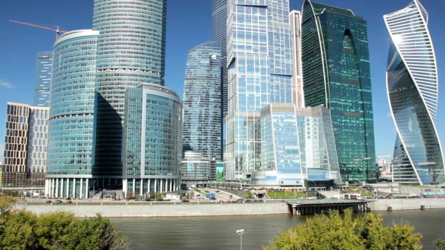 moscow international business center - river moscva stock videos & royalty-free footage