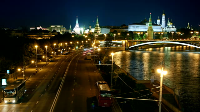 moscow kremlin at dusk - river moscva stock videos & royalty-free footage