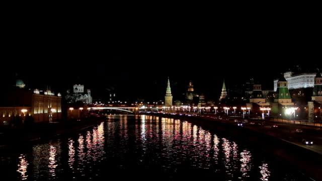moscow kremlin at night - moscow russia stock videos & royalty-free footage
