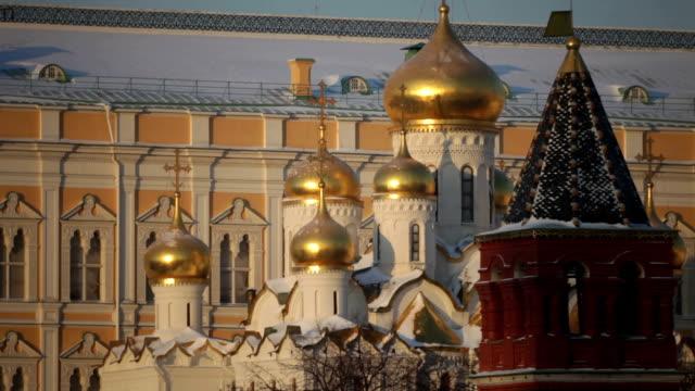 Moscow Kremlin at winter sunrise
