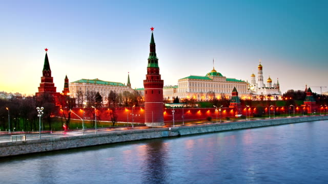 moscow kremlin evening - moscow russia stock videos & royalty-free footage