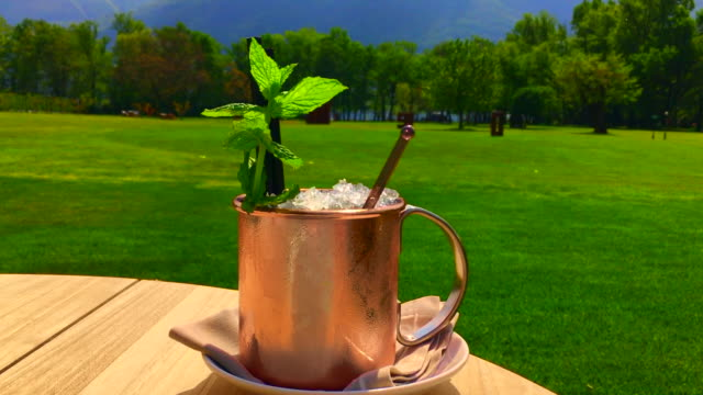 moscow mule cocktail in copper mug - mule stock videos & royalty-free footage