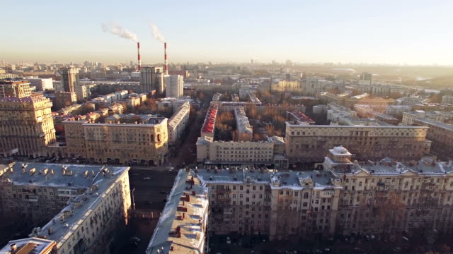 moscow residential district aerial - moscow russia stock videos & royalty-free footage