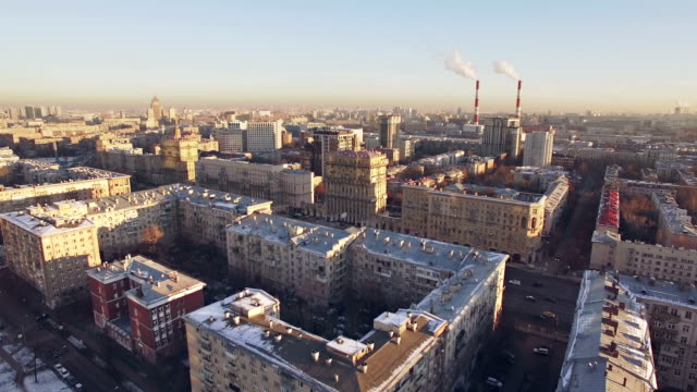 Moscow residential district aerial
