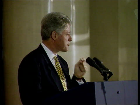 russian federation / usa summit: deadlock:; russian federation: moscow: moscow university: int lms clinton making speech at university tbv clinton... - the end stock videos & royalty-free footage