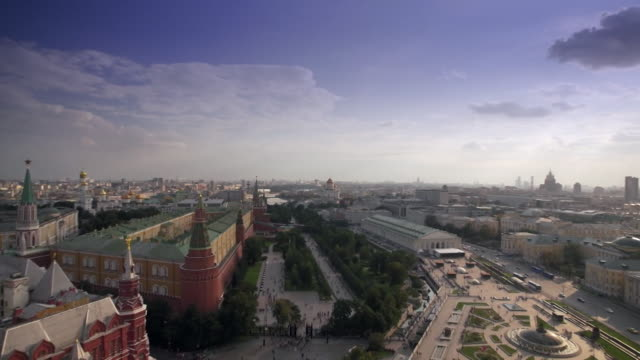 moscow skyline - moskau stock-videos und b-roll-filmmaterial