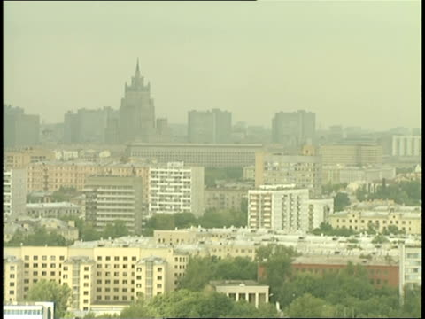 moscow skyline - moscow russia stock videos & royalty-free footage