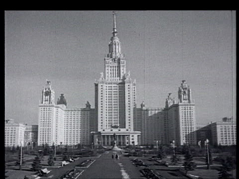 springtime in moscow the kremlin - 1950 1959 stock videos & royalty-free footage