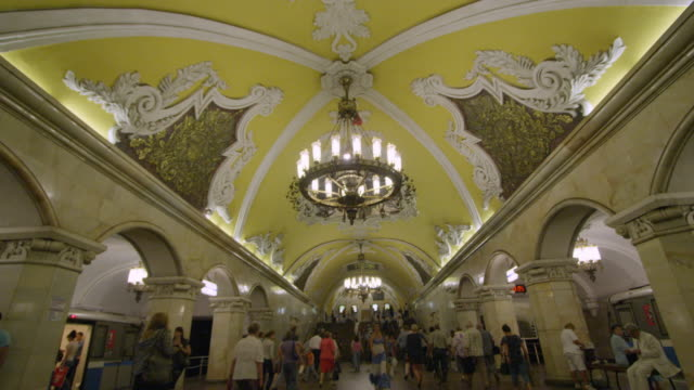 moscow subway - moscow russia stock videos & royalty-free footage