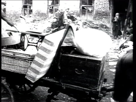 moscow workers leave their houses on outskirts to move into residential blocks in centre of moscow, in former apartments of upper middle class,... - history stock videos & royalty-free footage