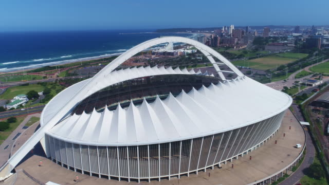 moses mabhida stadium - south africa stock videos & royalty-free footage