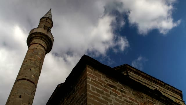 mosque and sky - serbia stock videos & royalty-free footage