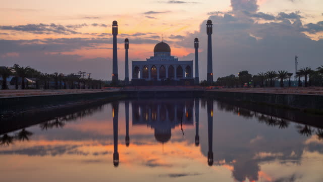 mosque at dusk - day to sunset stock videos & royalty-free footage