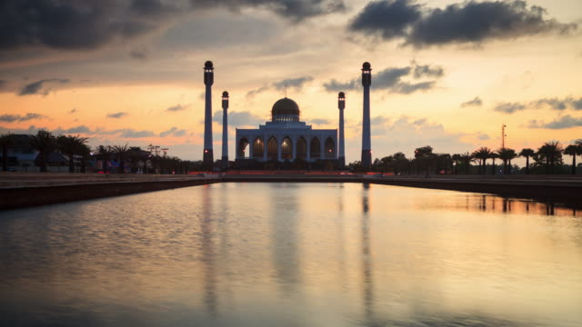mosque at sunset - songkhla province stock videos and b-roll footage