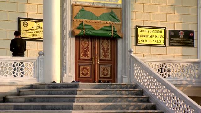 mosque door in mitrovnica - informationsskylt bildbanksvideor och videomaterial från bakom kulisserna