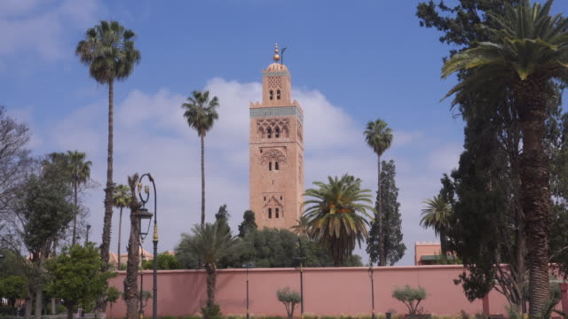 mosque in marrakesh - minaret stock videos & royalty-free footage