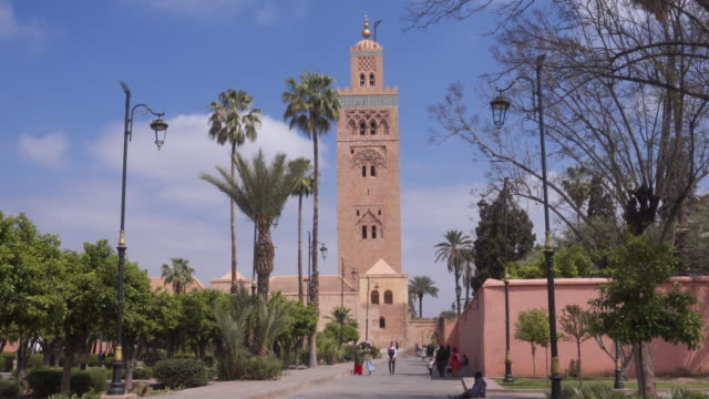 mosque in marrakesh - minareto video stock e b–roll