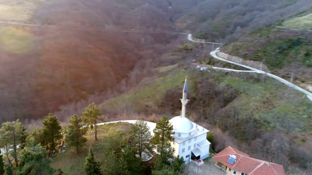 mosque in the mountains - moschea video stock e b–roll