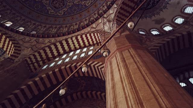 moské interiör med omgivande ljud - moské bildbanksvideor och videomaterial från bakom kulisserna