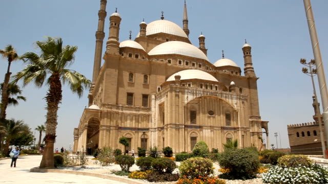 ws pan mosque of muhammad ali/ cairo / egypt - minaret stock videos & royalty-free footage