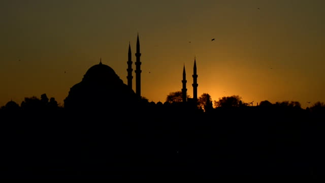 mosque - minareto video stock e b–roll