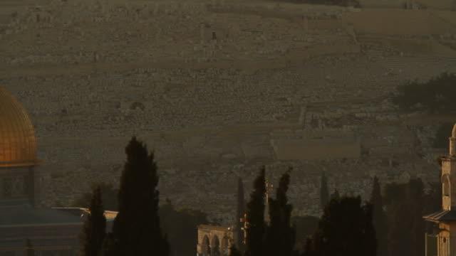 moscheen und den felsendom in jerusalem - jerusalem stock-videos und b-roll-filmmaterial