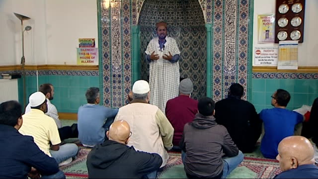 mosques speak out against sexual grooming of children england london haringey int various of imam in mosque delivering sermon attacking those who... - attending stock videos and b-roll footage