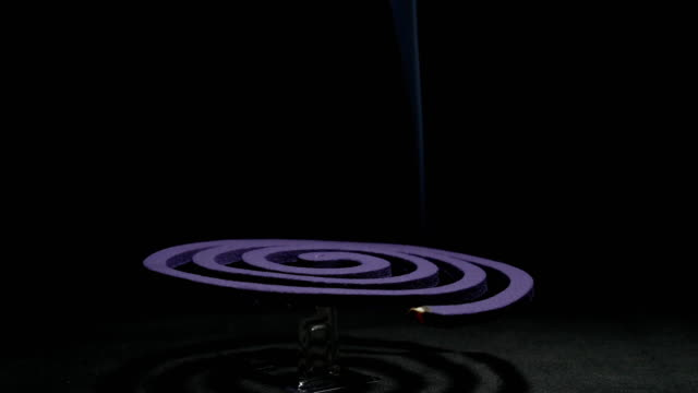 mosquito coil black background 4K
