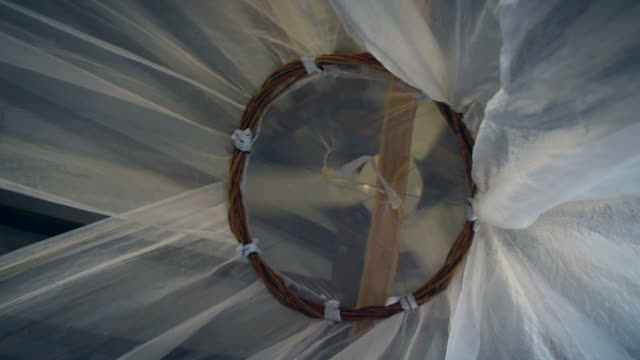 mosquito net - netting stock videos and b-roll footage