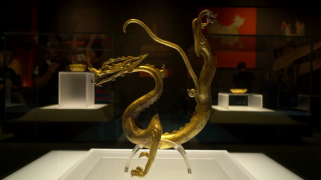 most antiques in shaanxi history museum are important cultures relics of silk road shaanxi history museum a national level museums has a rich... - dragon stock videos & royalty-free footage