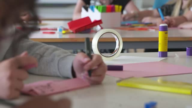 most eligible schools in england sign up for summer catch-up programme; england: county durham: hartlepool: ext various of school children and... - teacher stock videos & royalty-free footage