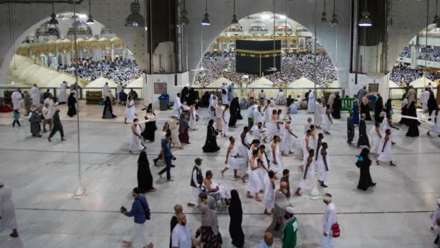 vídeos y material grabado en eventos de stock de lugar más importante para los musulmanes - peregrino