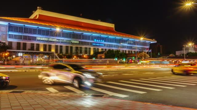台北メイン駅の交通輸送のほとんど - taipei点の映像素材/bロール