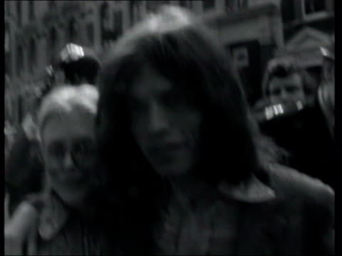 most requested ageing rockers 56460/767 5121968 london gore hotel b/w mick jagger covered in pie following food fight with other members of rolling... - 1969 stock videos & royalty-free footage
