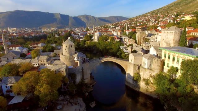 mostar at sunset - bosnia and hercegovina stock videos & royalty-free footage