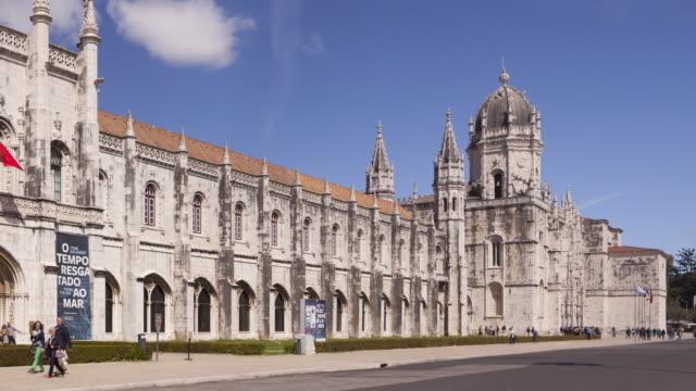 mosteiro dos jeronimos in lisbon, portugal. - mosteiro dos jeronimos stock videos and b-roll footage