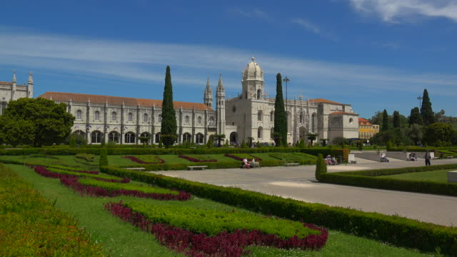 mosteiro dos jeronimos (monastery of the hieronymites), unesco world heritage site, belem, lisbon, portugal - mosteiro dos jeronimos stock videos and b-roll footage